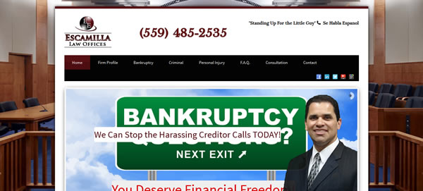 Bankruptcy Attorney Fresno - Twin Flames Media Website Design Sacramento